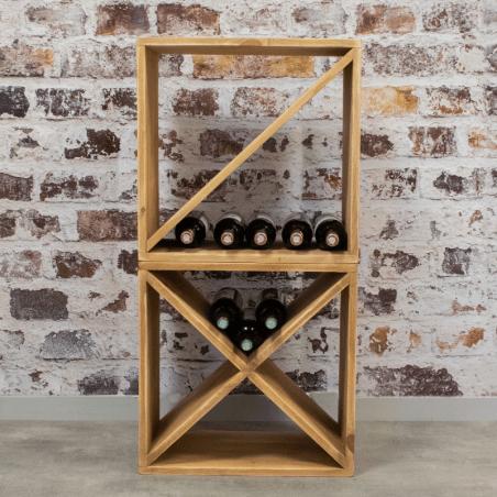 casier a vin capacite 24 bouteilles bois massif