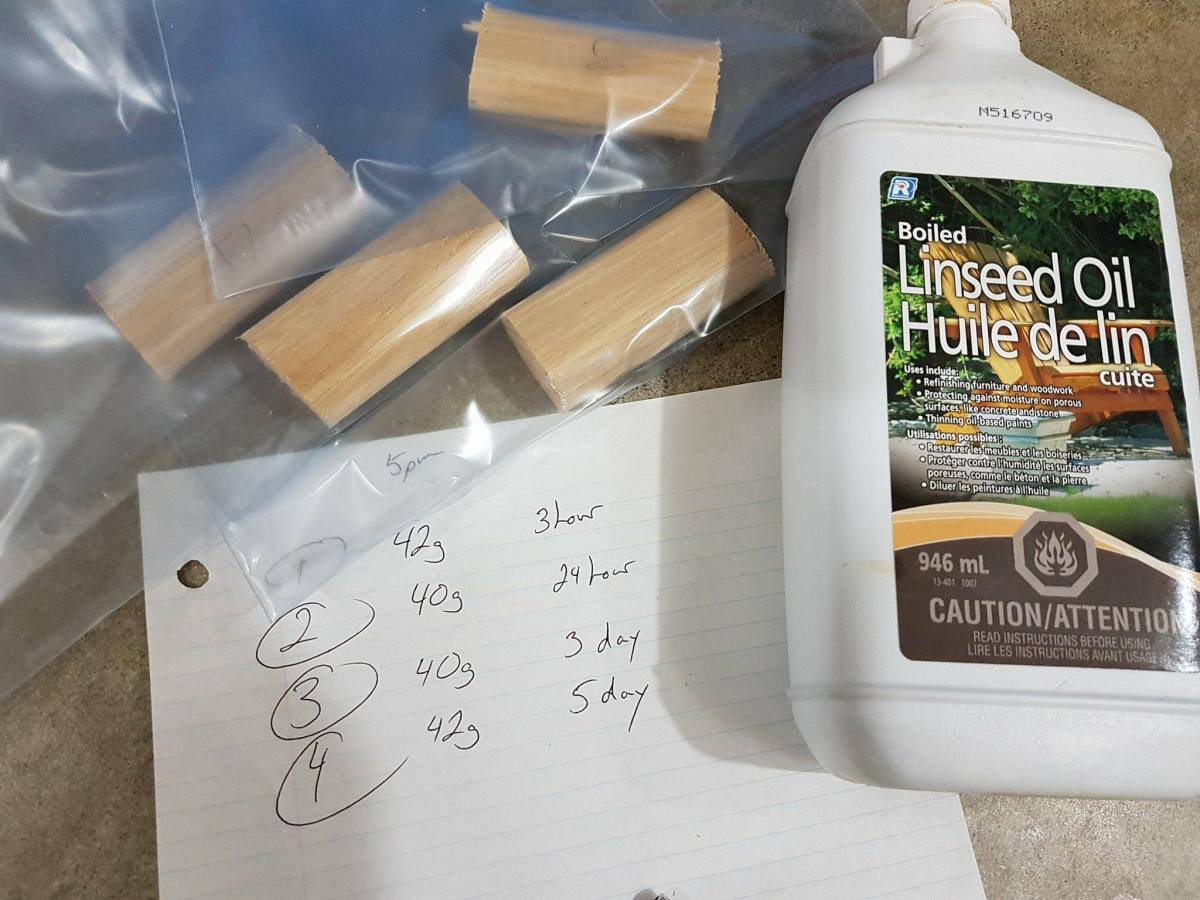 Penetration Of Boiled Linseed Oil When Applied To Hickory Wood