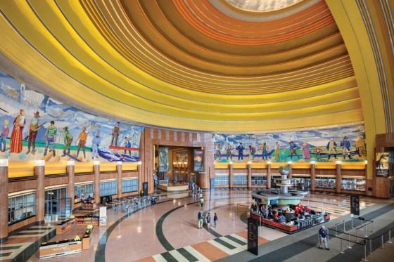 Cincinnati Union Terminal mural