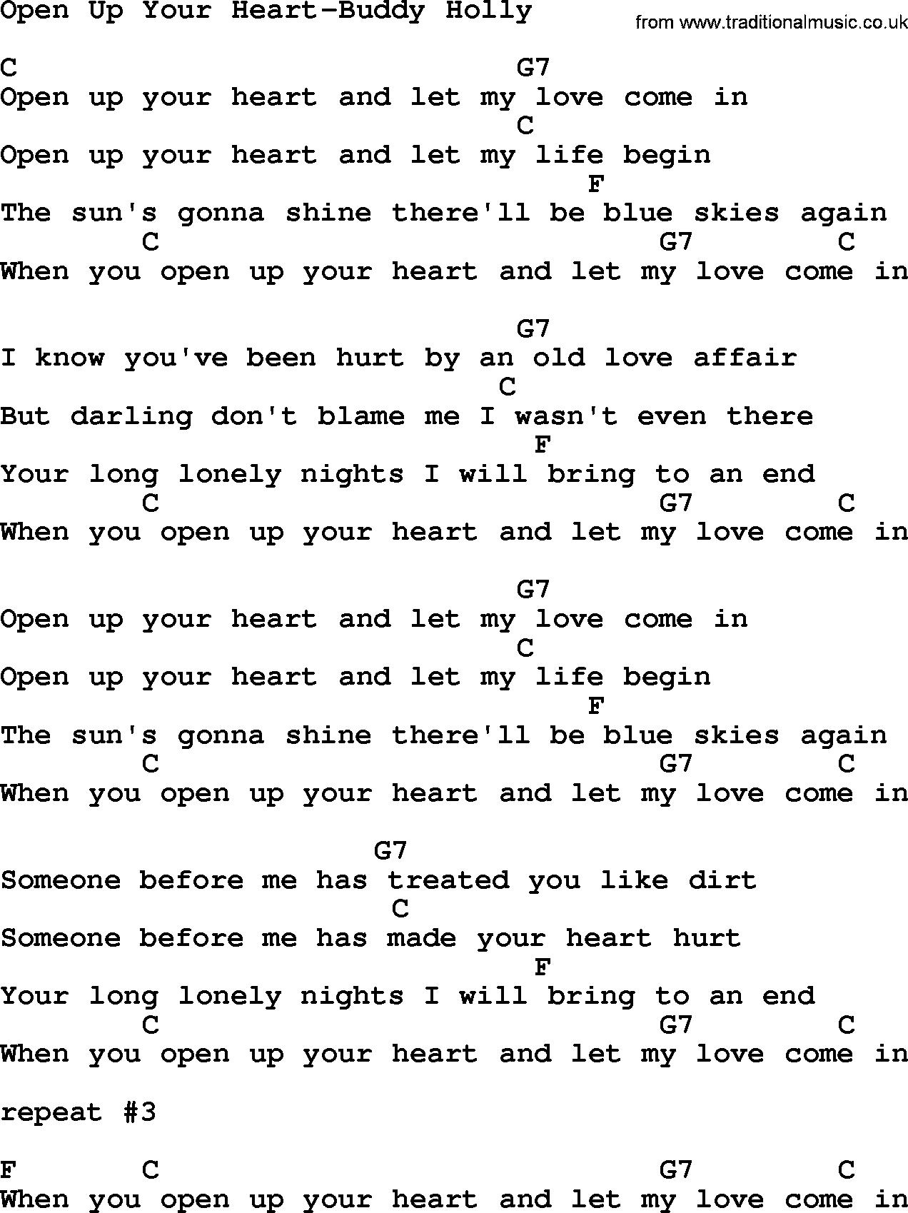 Buddy Holly Guitar Chords