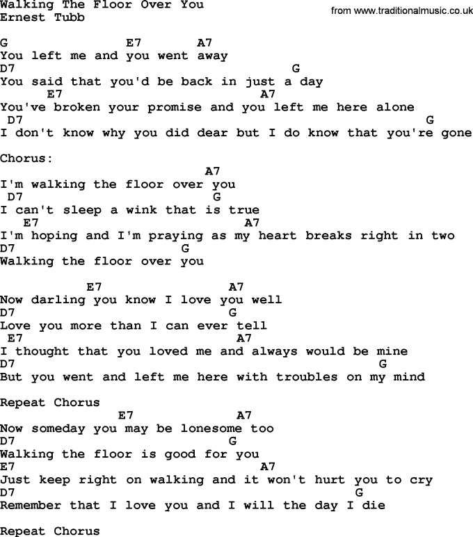 Ukulele Chords For Walking The Floor Over You Wikizie