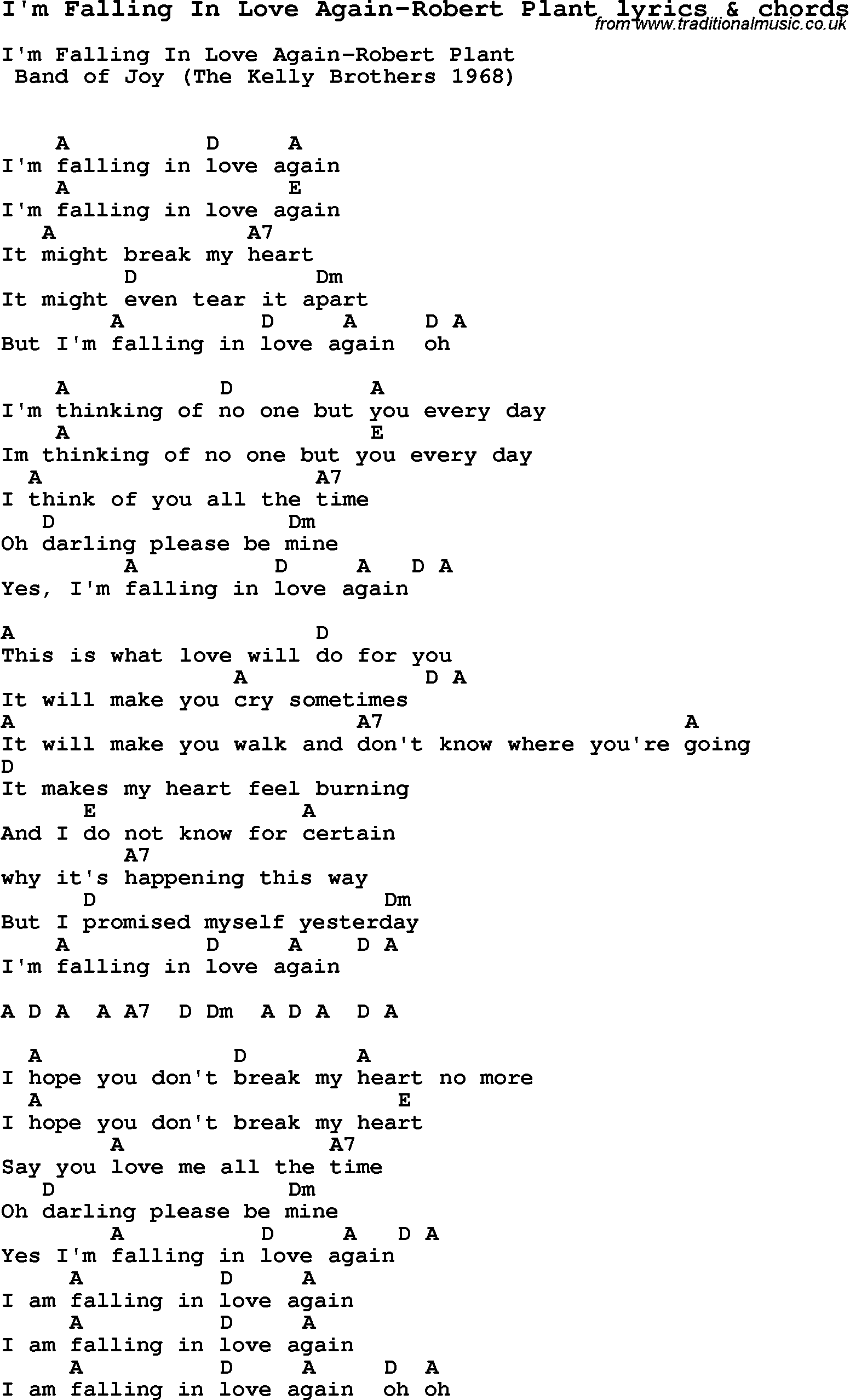 I Think Im Love Again Lyrics