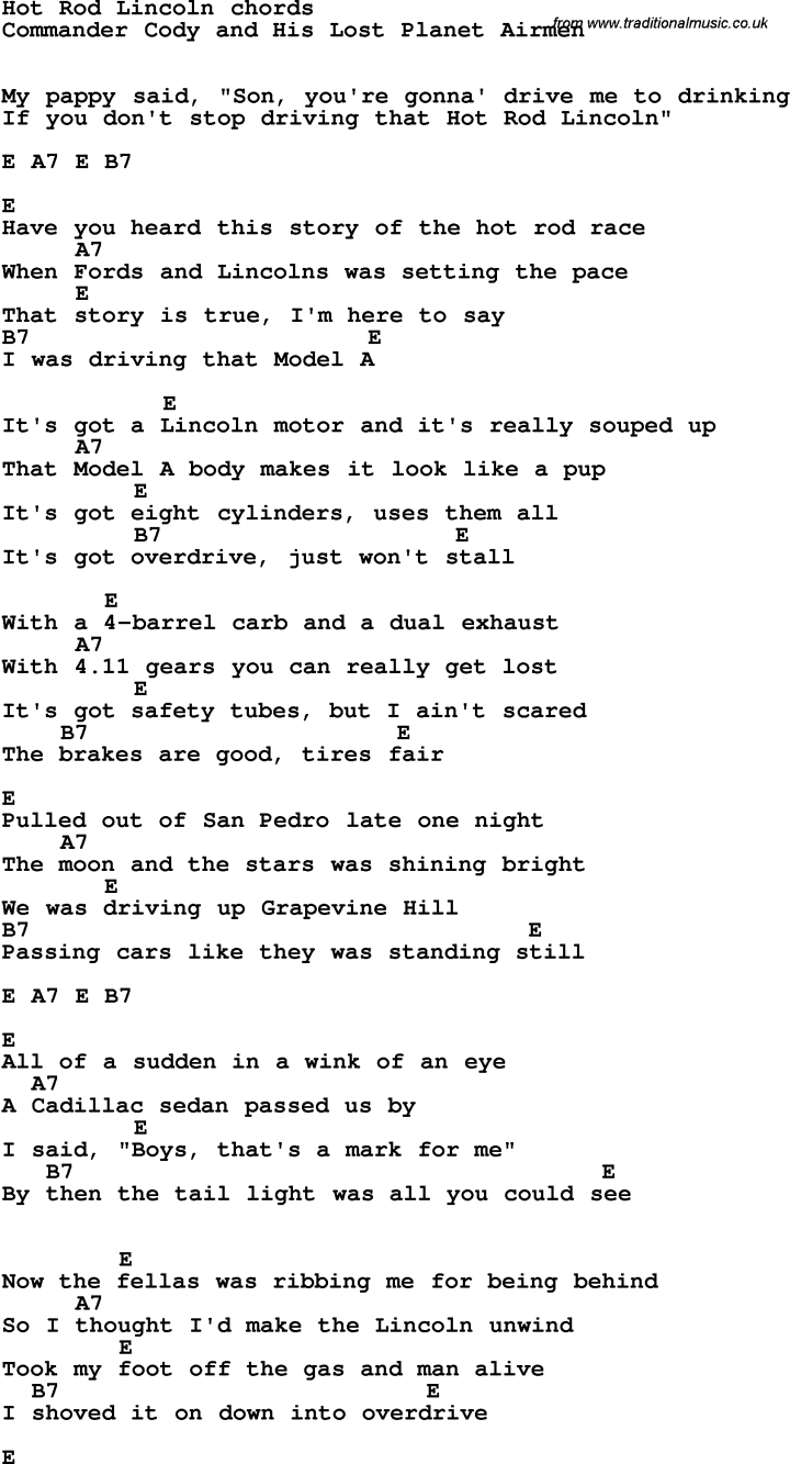Drive By The Cars Chords Carsjp