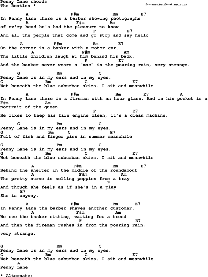 The Clarks Penny On Floor Guitar Chords Wikizie