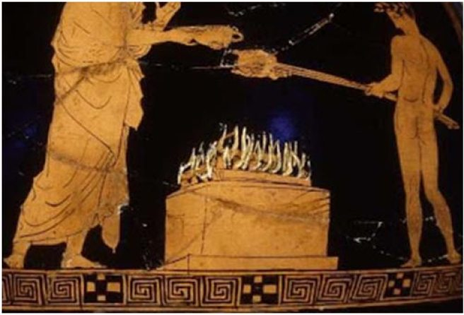 Image result for Ancient Greek fire