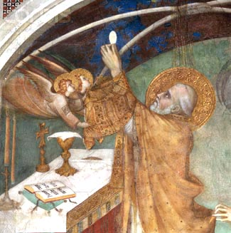 Elevation of host, Mass, Eucharist, Simone Martini