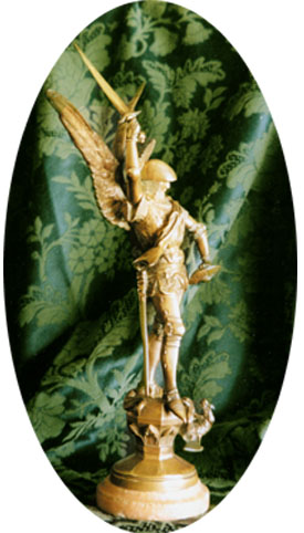 A statue of St. Michael the Archangel