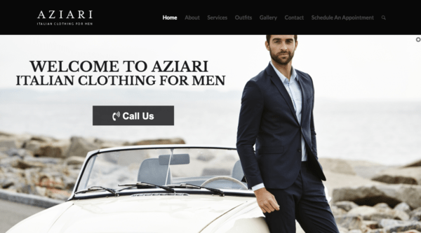 kinect marketing portfolio aziari italian clothing for men miami