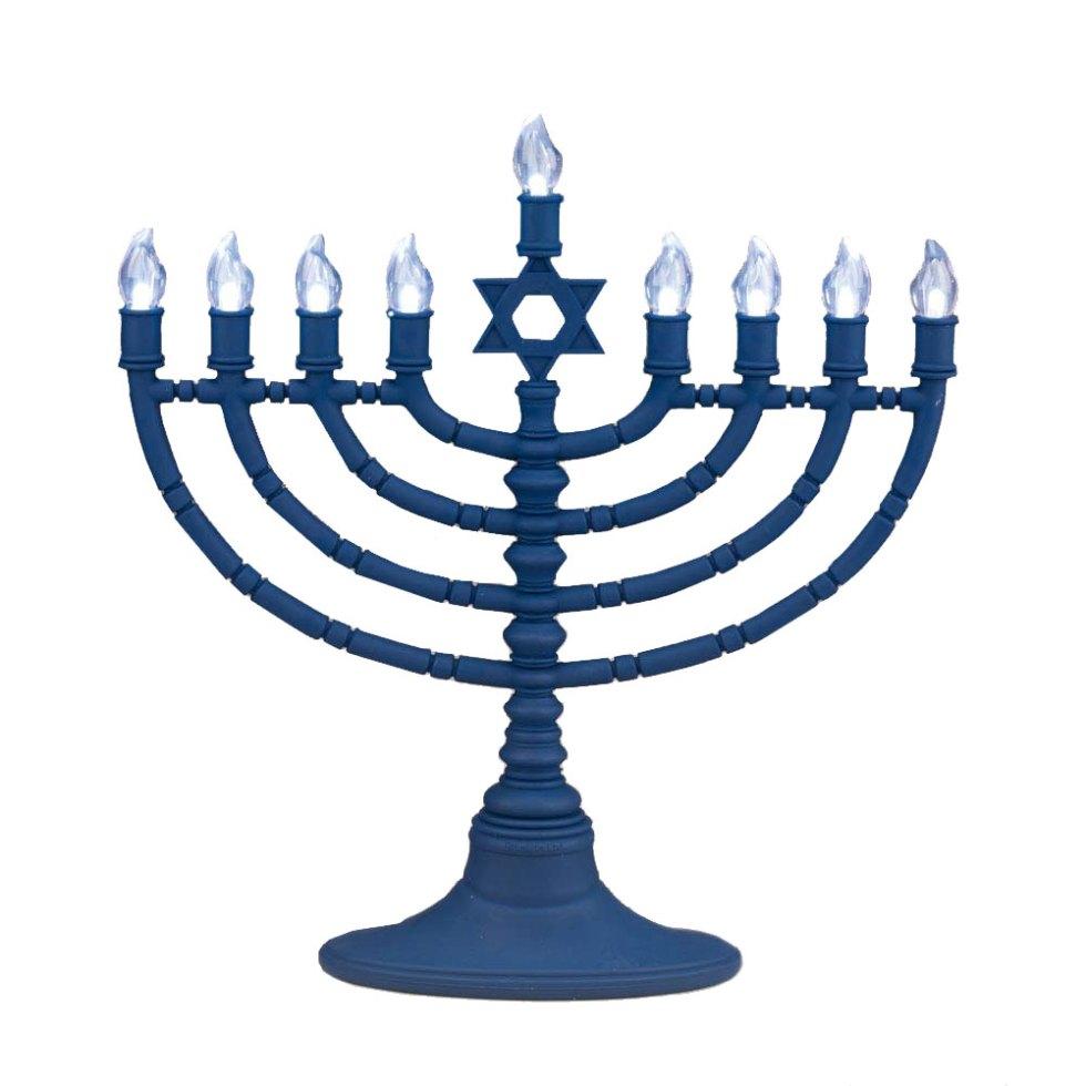 Jewish Gifts-Hanukkah Menorah-Battery Powered Menorah