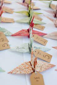 origami gru segnaposto