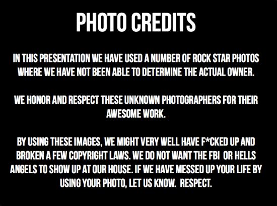 slideshare photo credits