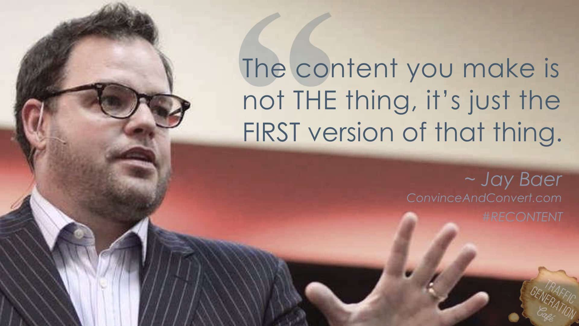 content repurposing by Jay Bayer