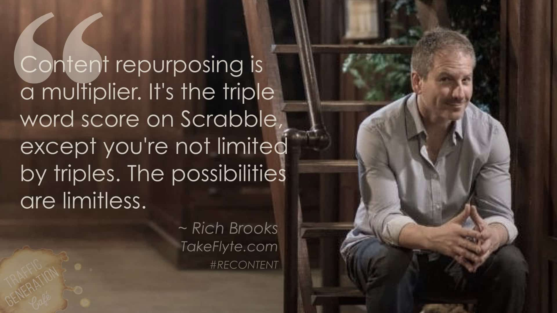content repurposing by Rich Brooks