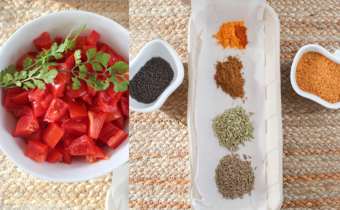 Indian Sweet & Sour Tomato Chutney-Ingredients