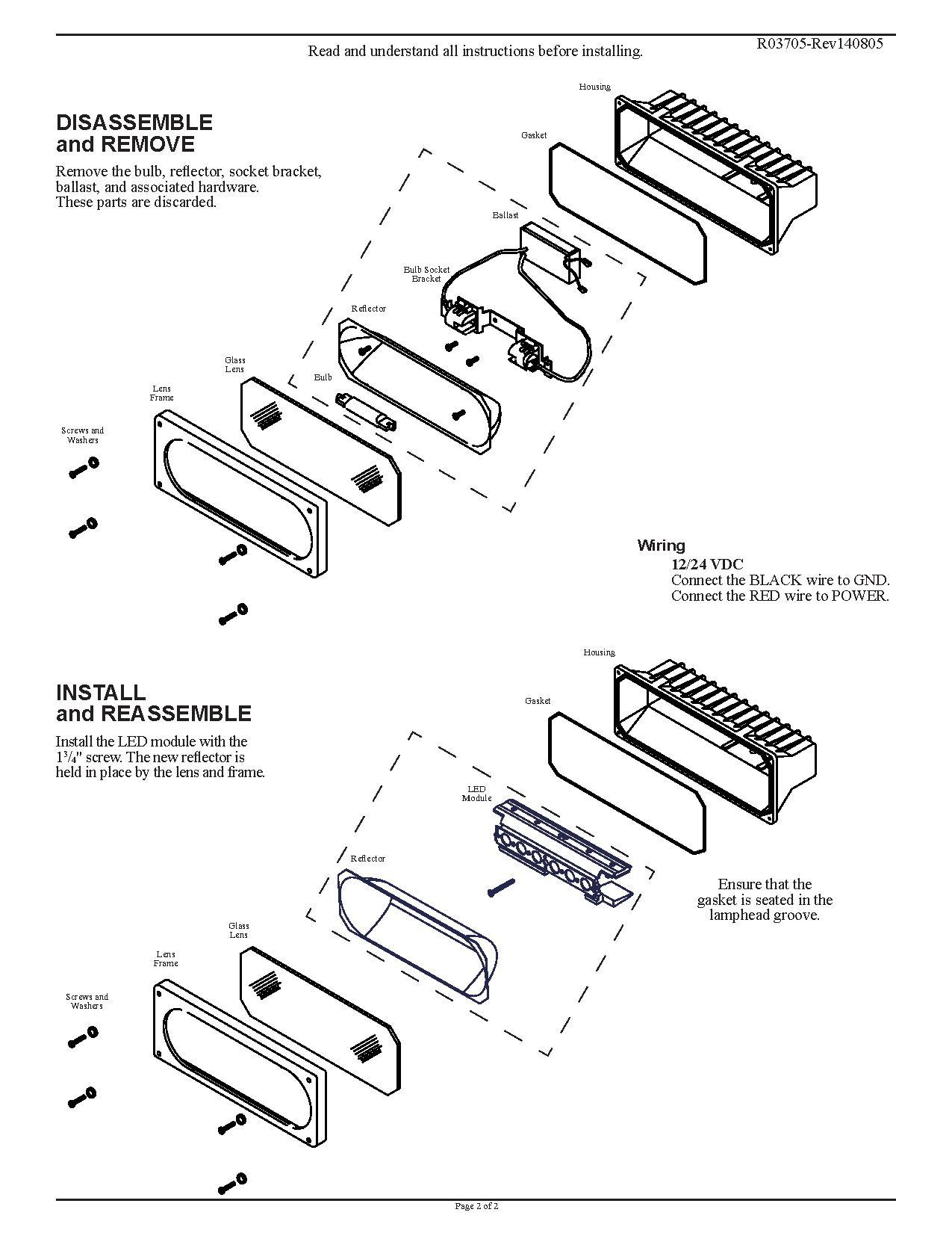Led Insert Retro Fit Kit For Magnafire Lighthead