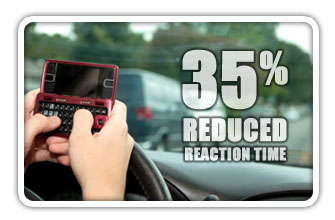 Texting while driving decreases reaction times.