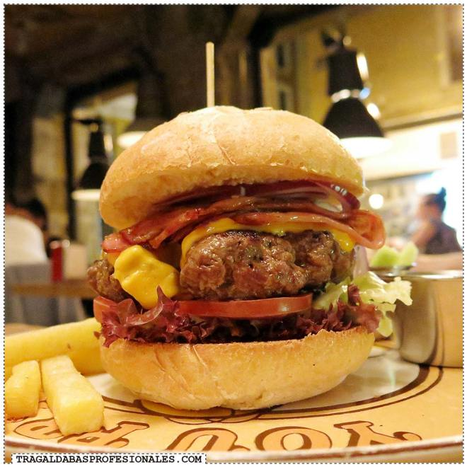 Tragaldabas Profesionales - Ruta de la Hamburguesa Madrid - Bacon cheese burger