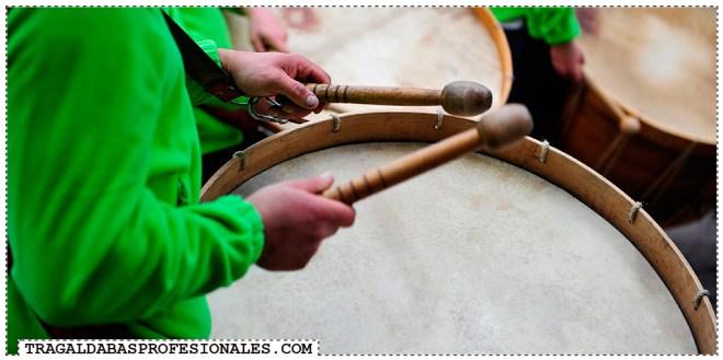 Tragaldabas Profesionales - Carnaval Entroido 2014 - Viana do Bolo - Festa da androlla - Tambor folion