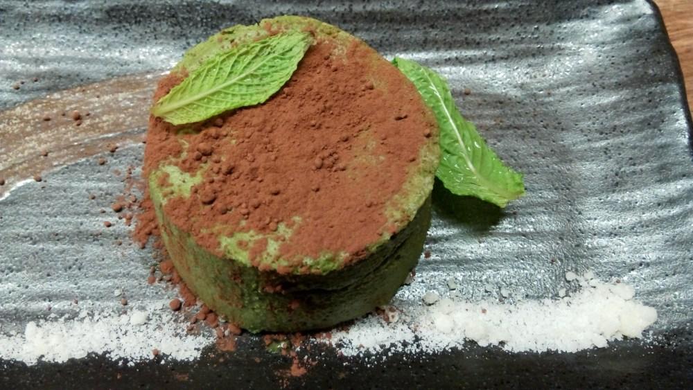 Tiramisú de té verde