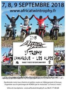AFRICA TWIN TROPHY du 7 au 9 septembre 2018