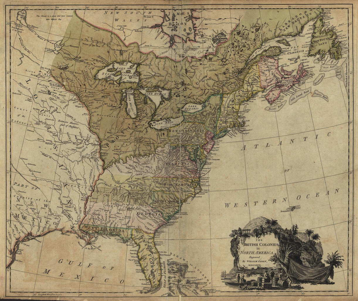Map Of The Us Colonies - Map of us in 1776