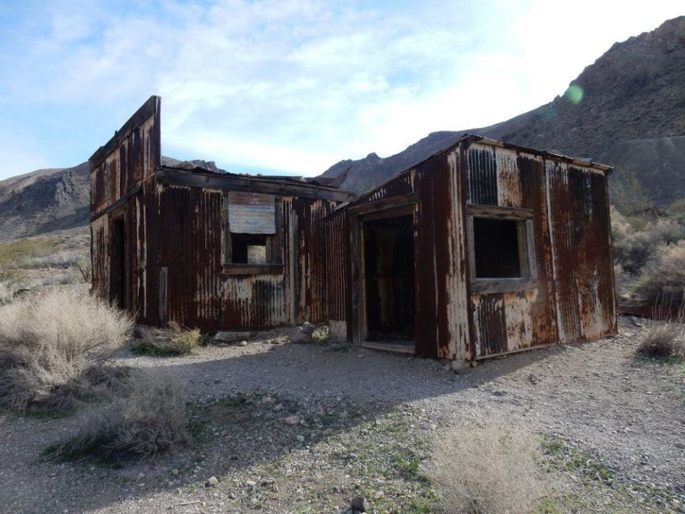 The abandoned mining village on Titus Canyon Road.