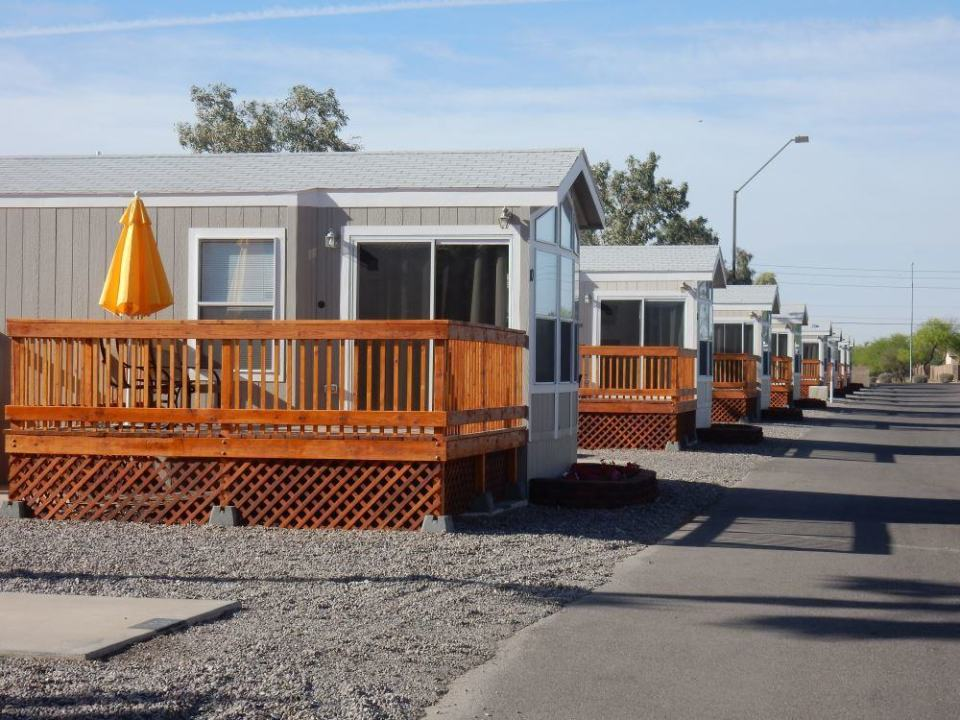 In addition to RV parking they have nice cottages you can stay in.
