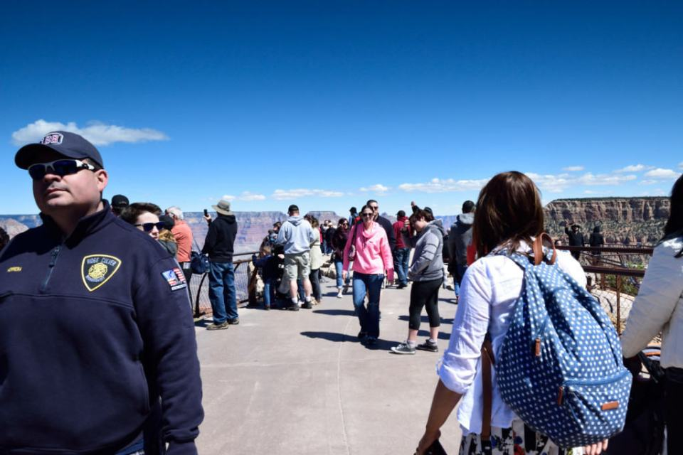 Spring Break Crowds At Mather Point