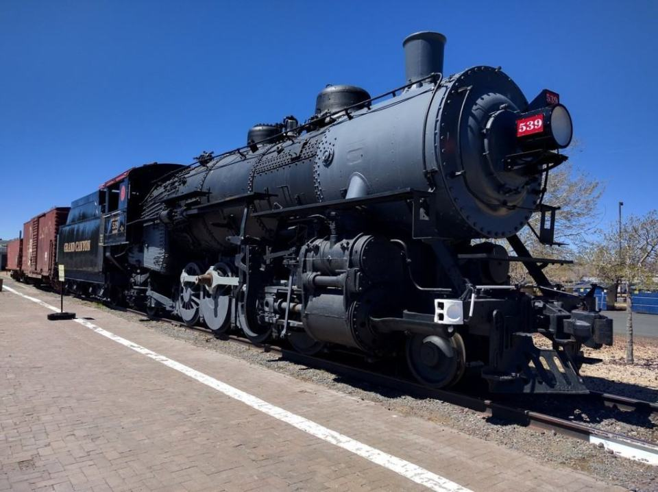 Steam Engines! At the Grand Canyon Railway RV Park and Hotel