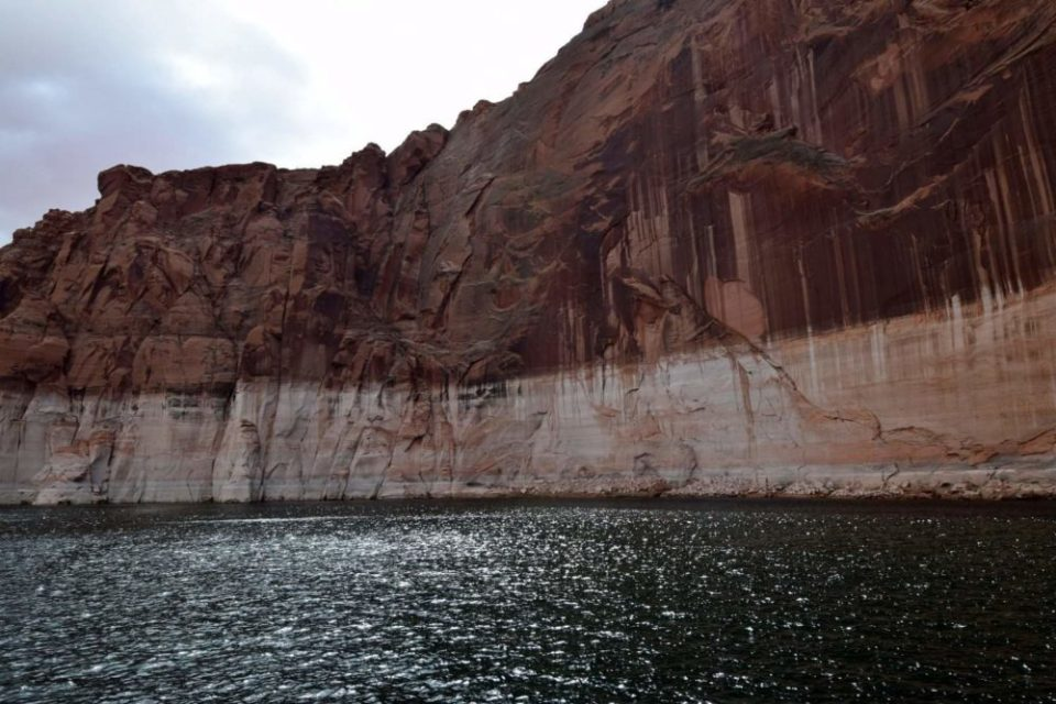 Navajo Tapestry created by water, erosion, and oxidation