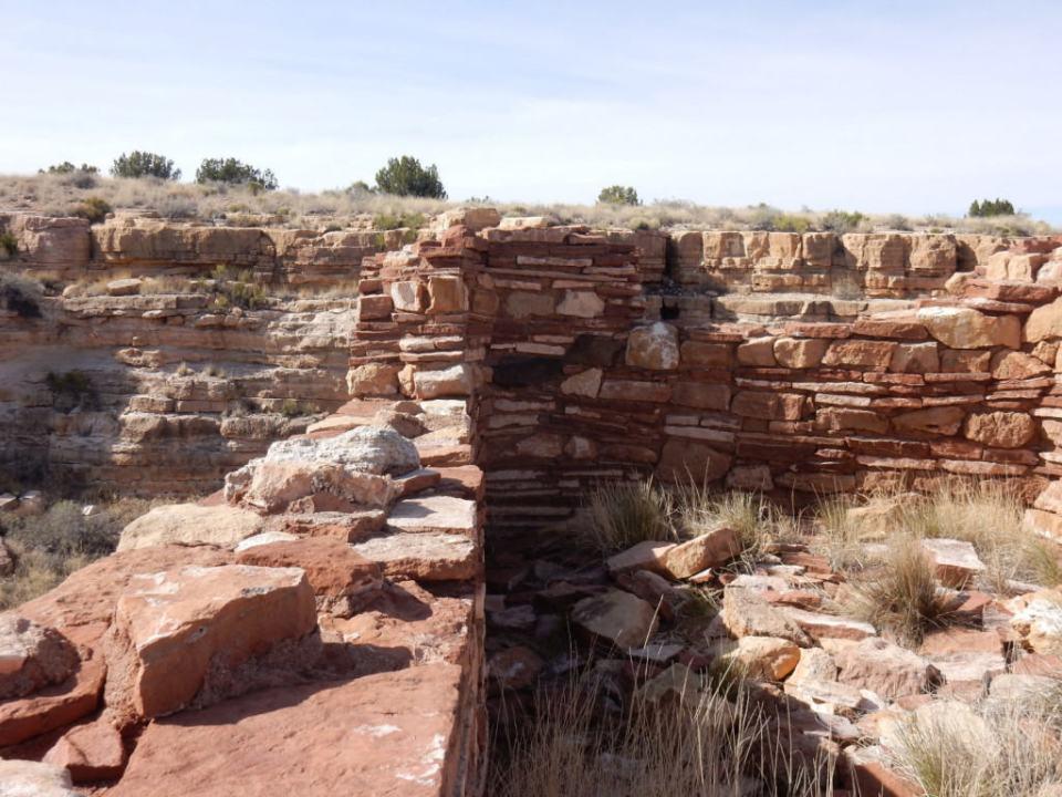 Closeup of Box Canyon Pueblo