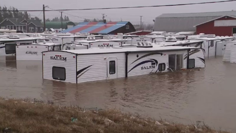 RV clearance sale, like new, minor water damage.