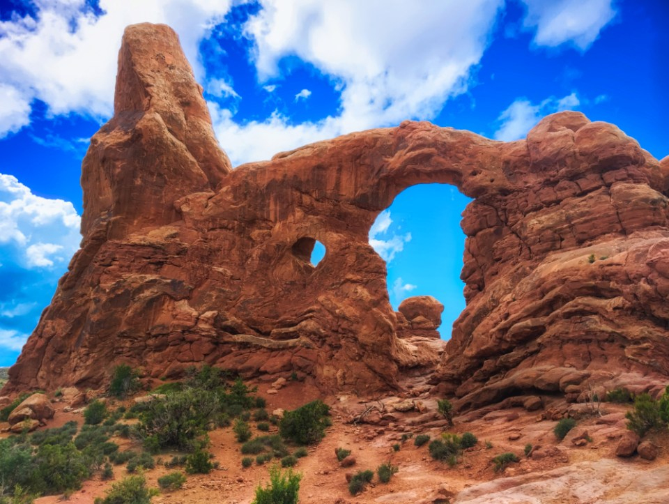 Steps up to Turret Arch in Windows