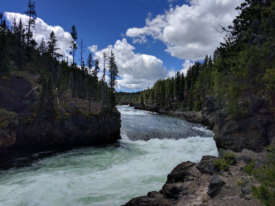 Brink of Upper Falls, Yellowstone