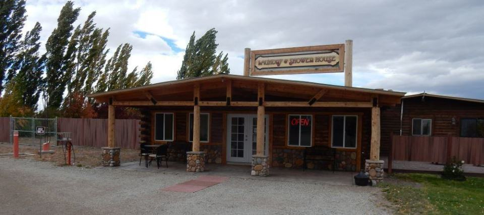 The Laundry was in this cool cabin along with the restrooms. Coin operated but relatively inexpensive.
