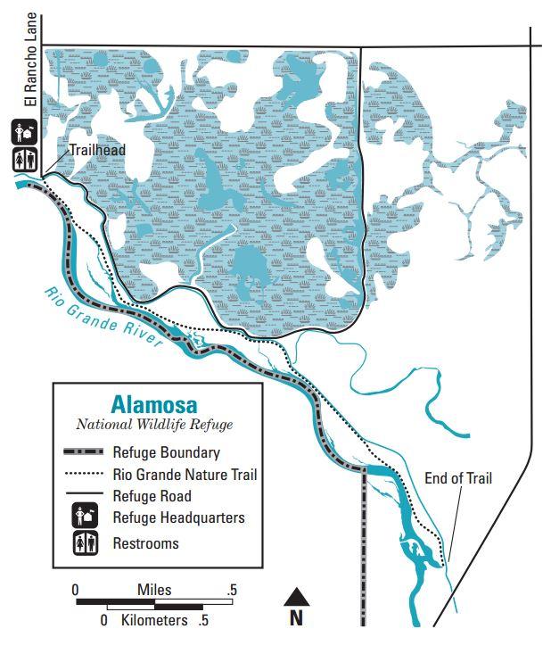 Alamosa National Wildlife Refuge Map