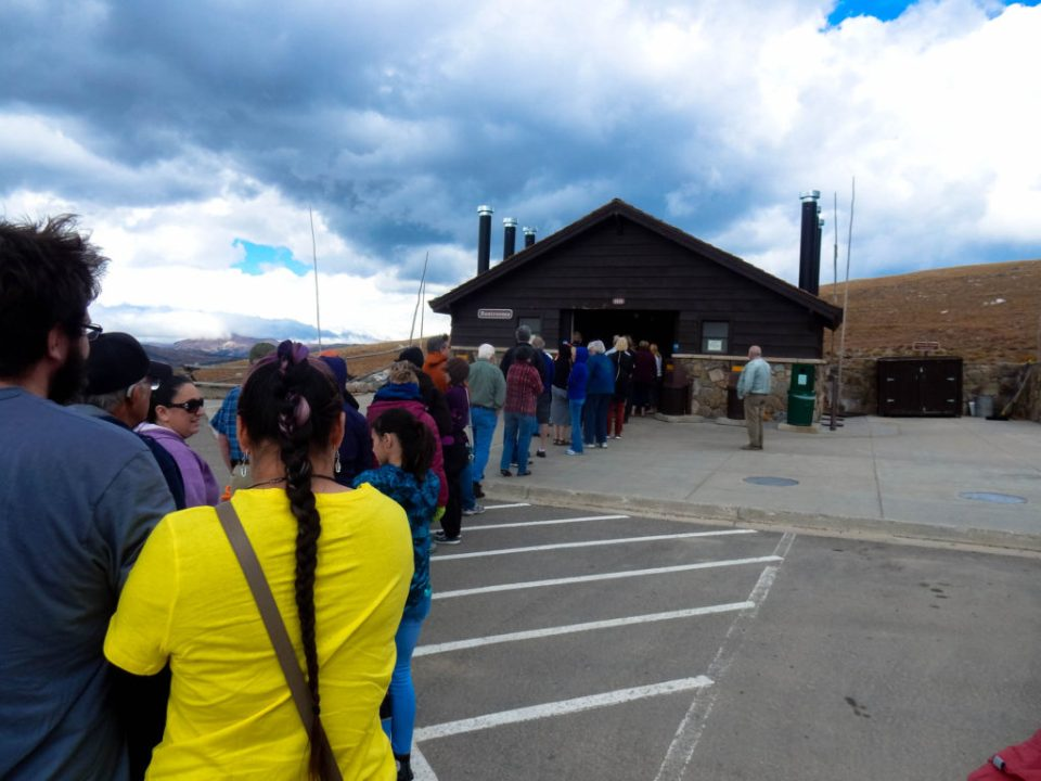 Bathroom Line at Alpine Visitor Center