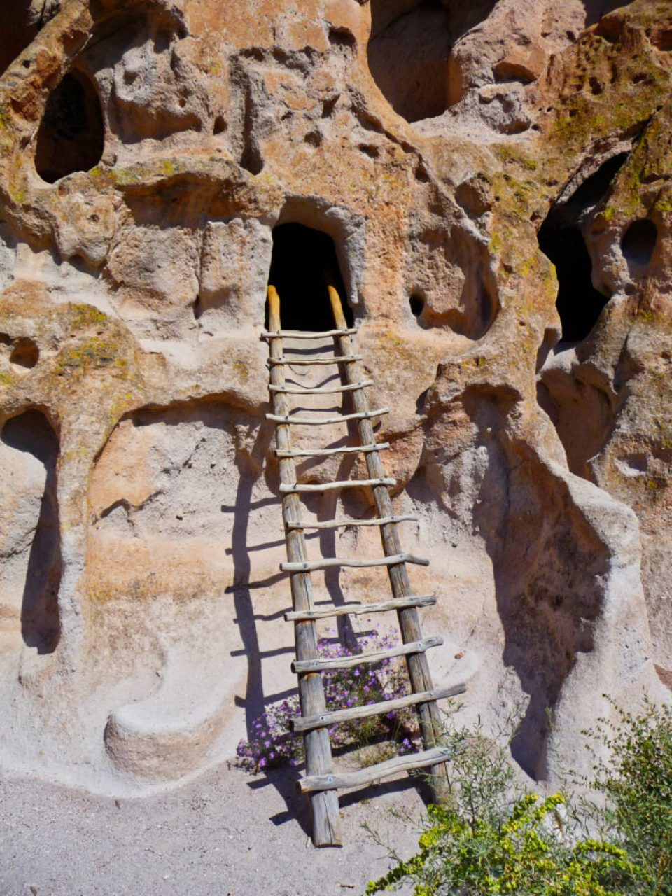 Ladder up to a Cliff House