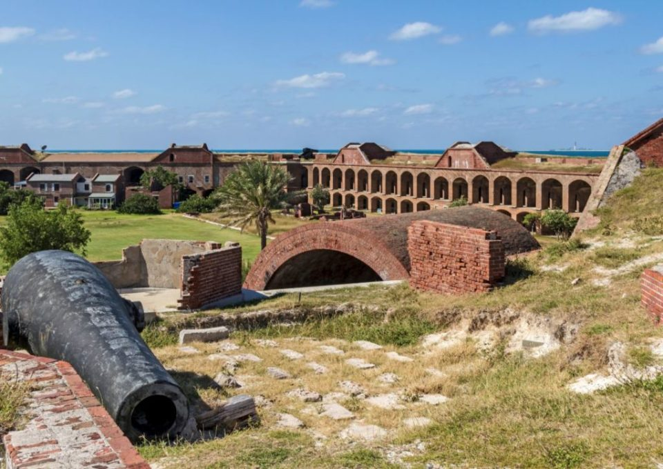View from top floor of Fort Jefferson