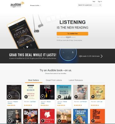 Audible - $15 a month