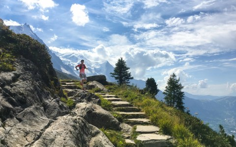 Trail running in Chamonix
