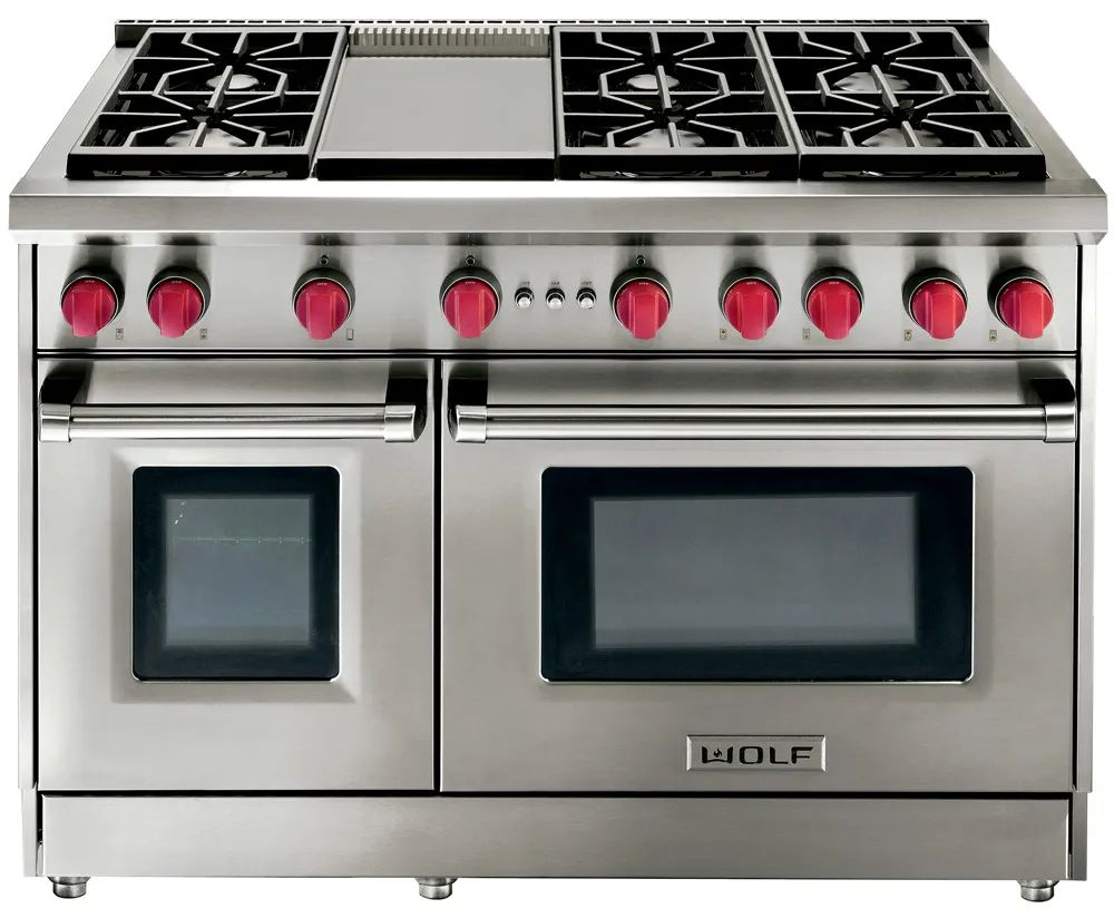 wolf 48 inch double oven gas range
