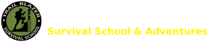 Trail Blazer Survival School and Adventures home page title and logo