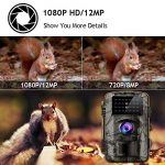 Gosira Trail Camera 12MP HD 1080P Wildlife Hunting 0.5s Trigger 940nm Updated Infrared LED Night Vision 15M/49FT IP66 Waterproof Trail Cam Motion Activated Wide Senor Angle Outdoor Nature Garden Home
