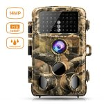 """Campark Trail Game Camera 14MP 1080P Waterproof Hunting Scouting Cam for Wildlife Monitoring with 120°Detecting Range Night Vision 2.4"""" LCD IR LEDs"""