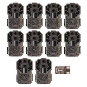 Stealth Cam Dual Sensor STC-DS4K Trail Camera, 30 Megapixel/4K Ultra HD Video – 10-Pack with Focus USB Reader