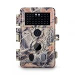 Meidase Trail Camera 16MP 1080P, Game Camera with No Glow Night Vision Up to 65ft, 0.2s Trigger Time Motion Activated, 2.4″ Color Screen and Unique Keypad, Waterproof Wildlife Hunting Camera