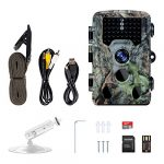 Memburu Trail Camera Hunting Game Camera 16MP 1080P Scouting Security Trail Deer Camera with 120° Wider Sensing Angle Low Glow Infrared Night Vision IP66 Waterproof for Hunting Wildlife Surveillance