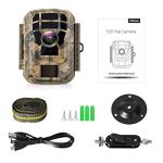 Campark Small Trail Game Camera-12MP 1080P HD Wildlife Waterproof Scouting Hunting Camera with 120° Wide Angle Lens and Night Vision 2.4″ LCD IR LEDs