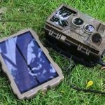 BESPORTBLE Solar Trail Camera with Portable Solar Panel for Hunting and Game Trail Cameras (S15W)